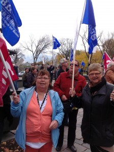 Our President and Vice President walk in solidarity to support brothers and sisters of blue collar workers!